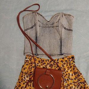 Acid wash corset